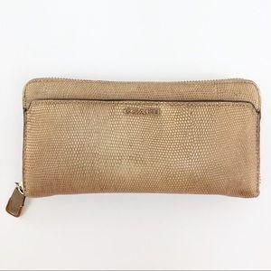 Coach Metallic Blush Zipper Closure Wallet